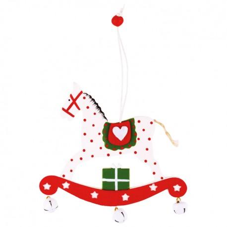 Ozdoba na vianočný stromček - hojdací koník