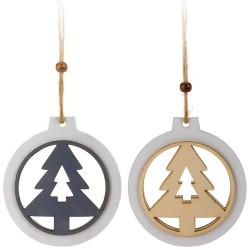 Ozdoby na vianočný stromček z dreva 2 ks - stromčeky