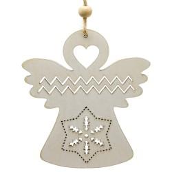 Ozdoba na vianočný stromček z dreva - anjelik