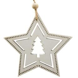 Ozdoba na vianočný stromček z dreva - hviezda