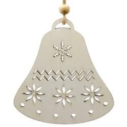 Ozdoba na vianočný stromček z dreva - zvonček