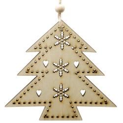 Ozdoba na vianočný stromček z dreva - stromček