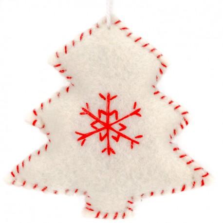 a50f8f9ab Ozdoba na vianočný stromček z filcu - stromček biely - Najhracky.sk