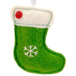Ozdoba na vianočný stromček z filcu - čižma
