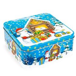 Vianočná plechová dóza 15 x 6,3 x 15 cm