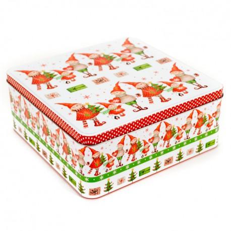 Vianočná plechová dóza 20 x 8 x 20 cm