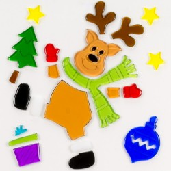 Vianočné ozdoby- nálepky na okno sob