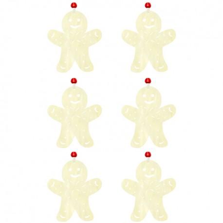 Ozdoby na vianočný stromček 6ks - snehuliaci