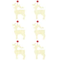 Ozdoby na vianočný stromček 6ks - jeleň