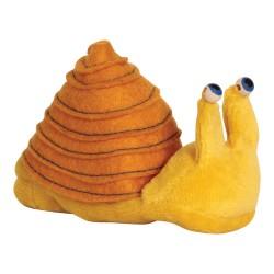 Prstová plyšová maňuška - Slimáčik žltý