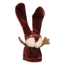 Prstová plyšová maňuška - Zajačik hnedý
