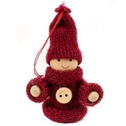 Ozdoba na vianočný stromček - chlapček bordový