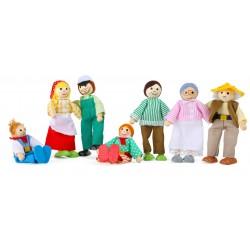 Legler Drevená 7-dielna sada figúriek - farmárska rodina