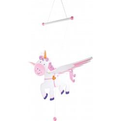 Závesná dekorácia - veľký lietajúci jednorožec