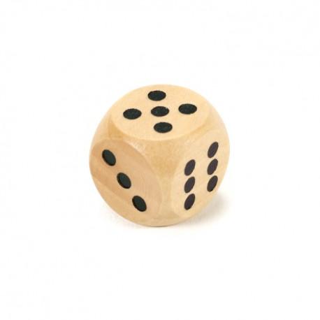 IMP-EX Drevená hracia kocka - 1,5 cm - natur