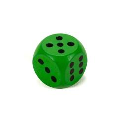 IMP-EX Drevená hracia kocka - 1,5 cm - zelená