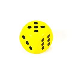 IMP-EX Drevená hracia kocka - 1,5 cm - žltá