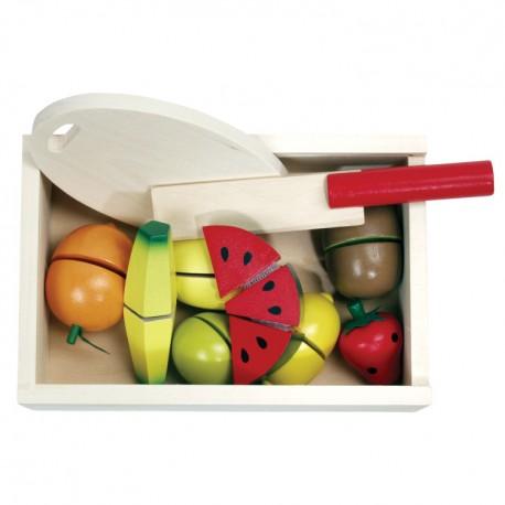 VIGA Drevené potraviny na krájanie - ovocie