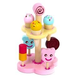 Mentari Drevené nanuky a zmrzliny na stojane