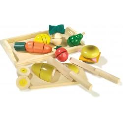 Legler Drevené potraviny na krájanie - raňajky s podnosom