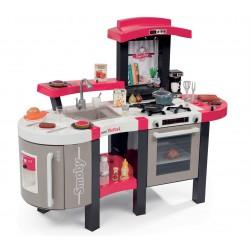 SMOBY Detská kuchynka Tefal Super CHEF Deluxe + 46 doplnkov - jahodovo-béžová