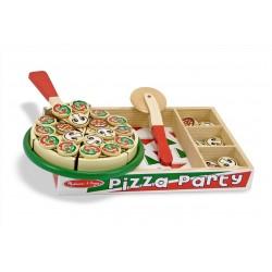 Melissa & Doug Drevené potraviny na krájanie - pizza v drevenej krabici