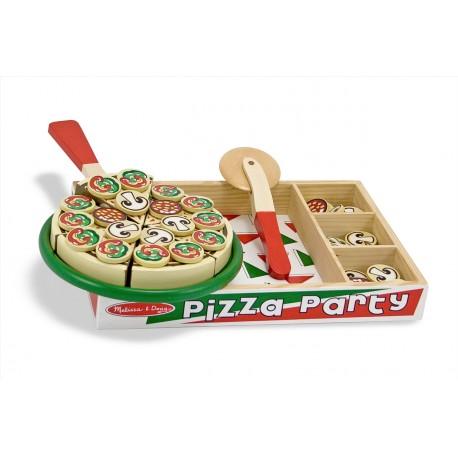 Drevené krájanie - pizza v drevenej krabici