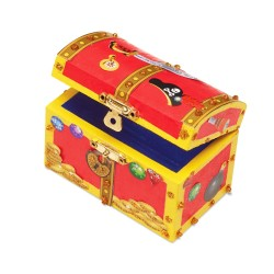 Melissa & Doug Drevená pirátska krabička