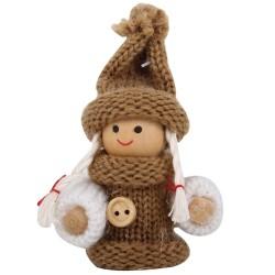 Ozdoba na vianočný stromček - dievčatko hnedé