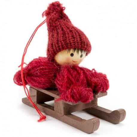 Ozdoba na vianočný stromček - chlapček červený