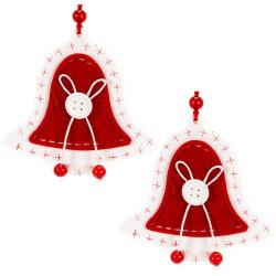 Ozdoby na vianočný stromček z dreva 2 ks - zvončeky