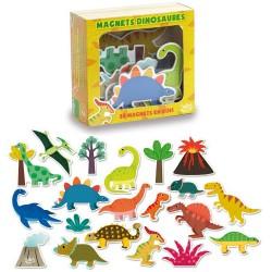 Vilac Drevené magnetky Dinosaury 20 ks