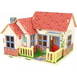 Drevené 3D puzzle skladačka - Grace domček pre bábiky