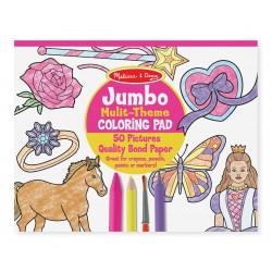 Melissa & Doug Jumbo detská omaľovánka pink
