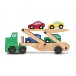 Melissa & Doug Drevený kamión na prepravu áut