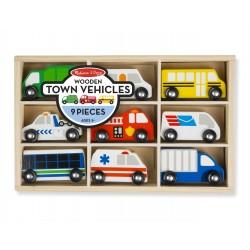 Melissa & Doug Drevené autíčka - mestské vozidlá