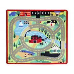 Hrací koberec pre deti mesto 100x90 cm