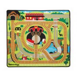 Hrací koberec pre deti 100x90 cm - železničné