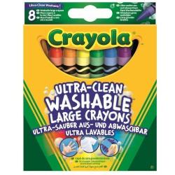 CRAYOLA farebné umývateľné voskovky - 8 ks