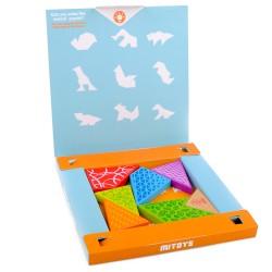 IMP-EX Drevený tangram v papierovej krabičke