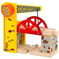 Detský drevený zdvíhací most