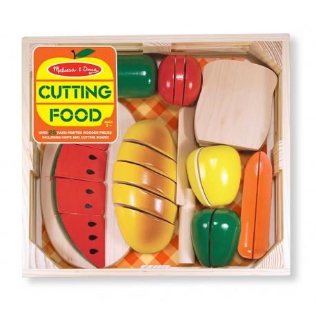 Drevené potraviny na krájanie