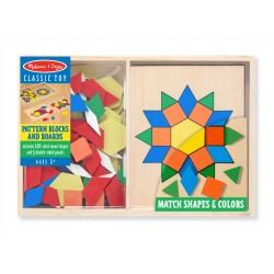 Melissa & Doug drevená farebná mozaika pre deti 120 dielikov