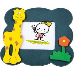 Detský drevený rámik na fotku - žirafa