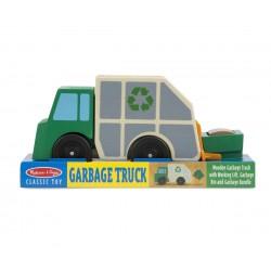 Drevené smetiarske auto