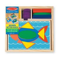 Melissa & Doug Drevená mozaika - Geometrické tvary pre najmenších