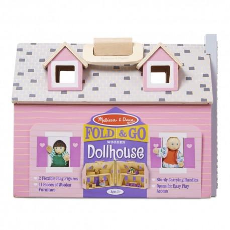 Melissa & Doug Detský domček pre bábiky - otvárateľný