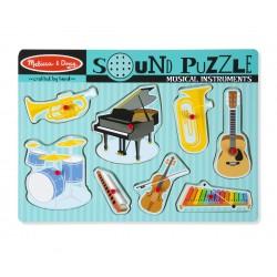 Melissa & Doug drevené zvukové puzzle - Hudobné nástroje pre deti