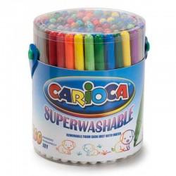 CARIOCA farebné umývateľné tenké fixky 100 ks
