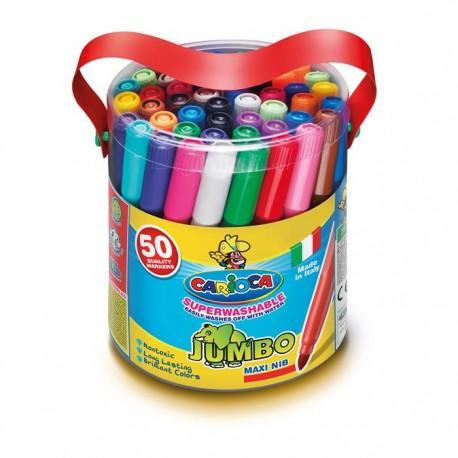 CARIOCA farebné umývateľné hrubé fixky Jumbo 50 ks-ové